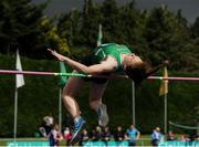 2 July 2016; Elizabeth Morland of Cushins Town A.C. on her way to winning the Junior Womens High Jump during the GloHealth National Junior and U23 Track & Field Championships at Tullamore Harriers Stadium in Tullamore, Offaly. Photo by Sam Barnes/Sportsfile