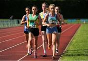2 July 2016; Meghan Ryan of Dundrum South Dublin, 120, and Shona Heaslip of An Riocht A.C., 152, competing in the U23 Womens 5000m during the GloHealth National Junior and U23 Track & Field Championships at Tullamore Harriers Stadium in Tullamore, Offaly. Photo by Sam Barnes/Sportsfile