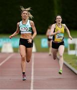 2 July 2016; Amy O'Donoghue of Emerald A.C., on her way to winning the U23 Women 800m, ahead of Alanna Lally of UCD A.C., during the GloHealth National Junior and U23 Track & Field Championships at Tullamore Harriers Stadium in Tullamore, Offaly. Photo by Sam Barnes/Sportsfile