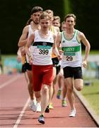 2 July 2016; Darragh Fitzgibbon of Donore Harriers, leads the field in the  U23 Men 1500m during the GloHealth National Junior and U23 Track & Field Championships at Tullamore Harriers Stadium in Tullamore, Offaly. Photo by Sam Barnes/Sportsfile