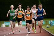 2 July 2016; Callum Crawford- Walker of Annadale Stiders, 125, on his way to winning the Junior Men 800m Final, ahead of Paul Peppard of Monaghan Pheonix A.C., 169, Roland Surlis of Annalee A.C., 431, and Darragh Finn of Celtic DCH during the GloHealth National Junior and U23 Track & Field Championships at Tullamore Harriers Stadium in Tullamore, Offaly. Photo by Sam Barnes/Sportsfile