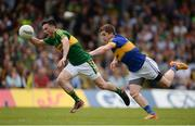 3 July 2016; Paul Murphy of Kerry is tackled by Robbie Kiely of Tipperary on the way to scoring his side's first goal during the Munster GAA Football Senior Championship Final match between Kerry and Tipperary at Fitzgerald Stadium in Killarney, Co Kerry. Photo by Brendan Moran/Sportsfile
