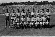 28 August 1983; The Dublin team, back row, left to right, Tommy Conroy, Barney Rock, John Caffrey, Joe McNally, John O'Leary, Anton O'Toole, Mick Holden, Gerry Hargan, Ciarán Duff, front row, left to right, Brian Mullins, PJ Buckley, Tommy Drumm, Ray Hazley, Pat Canavan, Jim Roynane. All-Ireland Senior Football Championship Semi-Final Replay, Dublin v Cork, Páirc Uí Chaoimh, Cork. Picture credit: Ray McManus / SPORTSFILE