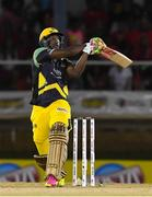 4 July 2016; Andre Russell of Jamaica Tallawahs hits a 6 during Match 7 of the Hero Caribbean Premier League between Trinbago Knight Riders and Jamaica Tallawahs at Queen's Park Oval, in Port of Spain, Trinidad. Photo by Randy Brooks/Sportsfile
