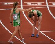 6 July 2016; Fionnuala McCormack, left, and Tara Jameson of Ireland after the Women's 10000m final on day one of the 23rd European Athletics Championships at the Olympic Stadium in Amsterdam, Netherlands. Photo by Brendan Moran/Sportsfile