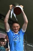 6 July 2016; Dublin captain Shane Barrett lifts the cup after the Bord Gáis Energy Leinster GAA Hurling U21 Championship Final match between Offaly and Dublin at O'Connor Park in Tullamore, Co Offaly. Photo by David Maher/Sportsfile