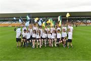 6 July 2016; The Flag kids before the game during the Bord Gáis Energy Leinster GAA Hurling U21 Championship Final match between Offaly and Dublin at O'Connor Park in Tullamore, Co Offaly. Photo by Matt Browne/Sportsfile