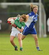 22 August 2010; Cliodhna Jackman, Fermanagh, in action against Aoife Landers, Waterford. All-Ireland Ladies Football U16B Shield Final, Waterford v Fermanagh, St Rynagh's, Banagher, Co. Offaly. Picture credit: Oliver McVeigh / SPORTSFILE