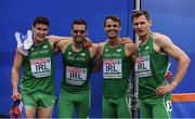 9 July 2016; The Ireland team, from left, Craig Lynch, Brian Gregan, Thomas Barr and David Gillick after the Men's 4 x 400m Relay qualifying round on day four of the 23rd European Athletics Championships at the Olympic Stadium in Amsterdam, Netherlands. Photo by Brendan Moran/Sportsfile