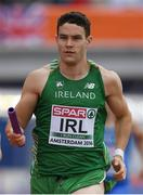 9 July 2016; Craig Lynch of Ireland in action during the Men's 4 x 400m Relay qualifying round on day four of the 23rd European Athletics Championships at the Olympic Stadium in Amsterdam, Netherlands. Photo by Brendan Moran/Sportsfile