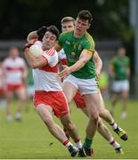 9 July 2016; Danny Heavron of Derry in action against Harry Rooney of Meath during the GAA Football All-Ireland Senior Championship - Round 2A match between Derry and Meath at Derry GAA Centre of Excellence in Owenbeg, Derry. Photo by Oliver McVeigh/Sportsfile