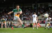 9 July 2016; Peter Cunningham of Offaly scores his side's second goal from a penalty during the GAA Football All-Ireland Senior Championship - Round 2B match between Kildare and Offaly at St Conleth's Park in Newbridge, Kildare.  Photo by Piaras Ó Mídheach/Sportsfile