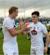 9 July 2016; Tommy Moolick and Eoin Doyle, right, of Kildare celebrate after the GAA Football All-Ireland Senior Championship - Round 2B match between Kildare and Offaly at St Conleth's Park in Newbridge, Kildare.  Photo by Piaras Ó Mídheach/Sportsfile
