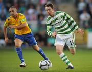 20 August 2010; Paddy Kavanagh, Shamrock Rovers, in action against Gary Dempsey, Bray Wanderers. Airtricity League Premier Division, Shamrock Rovers v Bray Wanderers, Tallaght Stadium, Tallaght, Dublin. Picture credit: David Maher / SPORTSFILE