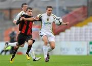 24 August 2010; Brian Gannon, Sporting Fingal A, in action against Gary Burke, Bohemians A. Newstalk Cup Final, Bohemians A v Sporting Fingal A, Dalymount Park, Dublin. Picture credit: Barry Cregg / SPORTSFILE