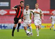 24 August 2010; Shane Keeley, Bohemians A, in action against Colly James, Sporting Fingal A. Newstalk Cup Final, Bohemians A v Sporting Fingal A, Dalymount Park, Dublin. Picture credit: Barry Cregg / SPORTSFILE