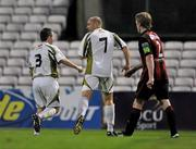 24 August 2010; Glen Crowe, Sporting Fingal A, celebrates with his team-mate Phillip Hand after scoring his side's third goal. Newstalk Cup Final, Bohemians A v Sporting Fingal A, Dalymount Park, Dublin. Picture credit: Barry Cregg / SPORTSFILE