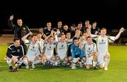 24 August 2010; The Sporting Fingal A team celebrate with the cup after the game. Newstalk Cup Final, Bohemians A v Sporting Fingal A, Dalymount Park, Dublin. Picture credit: Barry Cregg / SPORTSFILE