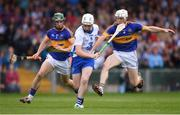 10 July 2016; Shane Bennett of Waterford in action against Michael Cahill, right, and Cathal Barrett of Tipperary during the Munster GAA Hurling Senior Championship Final match between Tipperary and Waterford at the Gaelic Grounds in Limerick.  Photo by Stephen McCarthy/Sportsfile