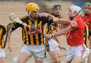 28 August 2010; Pat Hartley, Kilkenny, in action against Michael O'Sullivan, Cork. GAA Hurling All-Ireland Intermediate Championship Final, Cork v Kilkenny, Semple Stadium, Thurles, Co. Tipperary. Picture credit: Diarmuid Greene / SPORTSFILE