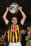 28 August 2010; Kilkenny captain Bill Beckett lifts the cup after victory over Cork. GAA Hurling All-Ireland Intermediate Championship Final, Cork v Kilkenny, Semple Stadium, Thurles, Co. Tipperary. Picture credit: Diarmuid Greene / SPORTSFILE