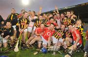 28 August 2010; The Kilkenny team celebrate with the cup after victory over Cork. GAA Hurling All-Ireland Intermediate Championship Final, Cork v Kilkenny, Semple Stadium, Thurles, Co. Tipperary. Picture credit: Diarmuid Greene / SPORTSFILE