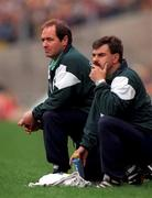 1 Septmber 1996; Tom Ryan, Limerick manager, left pictured with Dave Mahon, Limerick trainer during the match, Wexford v Limerick, All Ireland Hurling Final, Croke Park, Dublin. Picture credit; David Maher / SPORTSFILE