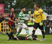 15 July 2016; Bohemian FC goalkeeper Dean Delaney celebrates after saving a penaly from Brandon Miele of Shamrock Rovers during the SSE Airtricity League Premier Division match between Shamrock Rovers and Bohemian FC at Tallaght Stadium in Tallaght, Co Dublin. Photo by David Maher/Sportsfile