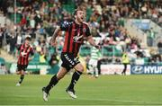 15 July 2016; Kurtis Byrne of Bohemian FC celebrates after scoring his side's first goal during the SSE Airtricity League Premier Division match between Shamrock Rovers and Bohemian FC at Tallaght Stadium in Tallaght, Co Dublin. Photo by David Maher/Sportsfile