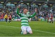 15 July 2016; Gary Shaw of Shamrock Rovers celebrates after scoring his side's second goal during the SSE Airtricity League Premier Division match between Shamrock Rovers and Bohemian FC at Tallaght Stadium in Tallaght, Co Dublin. Photo by Eóin Noonan/Sportsfile