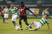 15 July 2016; Ismahil Akinade of Bohemian FC in action against Simon Madden of Shamrock Rovers during the SSE Airtricity League Premier Division match between Shamrock Rovers and Bohemian FC at Tallaght Stadium in Tallaght, Co Dublin. Photo by David Maher/Sportsfile