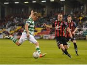 15 July 2016; Simmon Madden of Shamrock Rovers in action against Derek Pender of Bohemian FC during the SSE Airtricity League Premier Division match between Shamrock Rovers and Bohemian FC at Tallaght Stadium in Tallaght, Co Dublin. Photo by Eóin Noonan/Sportsfile