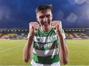 15 July 2016; Sean Boyd of Shamrock Rovers celebrates at the end of the SSE Airtricity League Premier Division match between Shamrock Rovers and Bohemian FC at Tallaght Stadium in Tallaght, Co Dublin. Photo by David Maher/Sportsfile