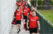 16 July 2016; Andy Moran and his Mayo team-mates arrive prior to the GAA Football All-Ireland Senior Championship Round 3B match between Mayo and Kildare at Elverys MacHale Park in Castlebar, Mayo. Photo by Stephen McCarthy/Sportsfile