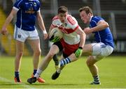 16 July 2016; Emmett Bradley of Derry in action against Gearoid McKiernan of Cavan during the GAA Football All-Ireland Senior Championship Round 3A match between Cavan and Derry at Kingspan Breffni Park in Cavan. Photo by Brendan Moran/Sportsfile