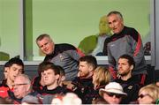 16 July 2016; Mayo manager Stephen Rochford and selector Donie Buckley take up their seat in the stand during the GAA Football All-Ireland Senior Championship Round 3B match between Mayo and Kildare at Elverys MacHale Park in Castlebar, Mayo. Photo by Stephen McCarthy/Sportsfile