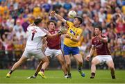 17 July 2016; Cathal Cregg of Roscommon in action against Galway players, from left, Bernard Power, Eoghan Kerin and Gareth Bradshaw during the Connacht GAA Football Senior Championship Final Replay match between Galway and Roscommon at Elverys MacHale Park in Castlebar, Co Mayo. Photo by Stephen McCarthy/Sportsfile
