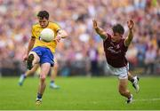 17 July 2016; Ciaráin Murtagh of Roscommon in action against Eoghan Kerin of Galway during the Connacht GAA Football Senior Championship Final Replay match between Galway and Roscommon at Elverys MacHale Park in Castlebar, Co Mayo. Photo by Stephen McCarthy/Sportsfile