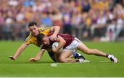 17 July 2016; Eoghan Kerin of Galway in action against John McManus of Roscommon during the Connacht GAA Football Senior Championship Final Replay match between Galway and Roscommon at Elverys MacHale Park in Castlebar, Co Mayo. Photo by Stephen McCarthy/Sportsfile