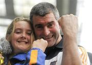 5 September 2010; Tipperary manager Liam Sheedy celebrates at the end of the game with his daughter Ashling. GAA Hurling All-Ireland Senior Championship Final, Kilkenny v Tipperary, Croke Park, Dublin. Picture credit: David Maher / SPORTSFILE