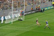 5 September 2010; Lar Corbett, Tipperary, scores his and his side's first goal past Kilkenny goalkeeper P.J Ryan. GAA Hurling All-Ireland Senior Championship Final, Kilkenny v Tipperary, Croke Park, Dublin. Picture credit: Brendan Moran / SPORTSFILE