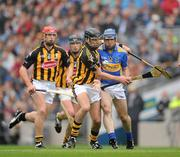 5 September 2010; JJ Delaney, Kilkenny, gets in to dispossess Eoin Kelly, Tipperary. GAA Hurling All-Ireland Senior Championship Final, Kilkenny v Tipperary, Croke Park, Dublin. Picture credit: Ray McManus / SPORTSFILE