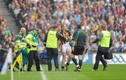 5 September 2010; Kilkenny's Henry Shefflin is attended to by medics after suffering an injury in the first half. GAA Hurling All-Ireland Senior Championship Final, Kilkenny v Tipperary, Croke Park, Dublin. Picture credit: Ray McManus / SPORTSFILE