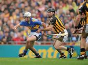 5 September 2010; Patrick Maher, Tipperary, in action against 3, Noel Hickey, Kilkenny. GAA Hurling All-Ireland Senior Championship Final, Kilkenny v Tipperary, Croke Park, Dublin. Picture credit: Ray McManus / SPORTSFILE