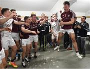 17 July 2016; Eoghan Kerin and his Galway team-mates celebrate following the Connacht GAA Football Senior Championship Final Replay match between Galway and Roscommon at Elverys MacHale Park in Castlebar, Co Mayo. Photo by Stephen McCarthy/Sportsfile