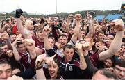 17 July 2016; Galway players, including Thomas Flynn, Bernard Power and Damien Comer celebrate amongst supporters following the Connacht GAA Football Senior Championship Final Replay match between Galway and Roscommon at Elverys MacHale Park in Castlebar, Co Mayo. Photo by Stephen McCarthy/Sportsfile