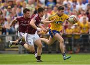 17 July 2016; Cathal Cregg of Roscommon in action against Eoghan Kerin, left, and Gareth Bradshaw of Galway during the Connacht GAA Football Senior Championship Final Replay match between Galway and Roscommon at Elverys MacHale Park in Castlebar, Co Mayo. Photo by Stephen McCarthy/Sportsfile