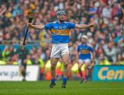 5 September 2010; Tipperary captain Eoin Kelly celebrates at the end of the game. GAA Hurling All-Ireland Senior Championship Final, Kilkenny v Tipperary, Croke Park, Dublin. Picture credit: Dáire Brennan / SPORTSFILE