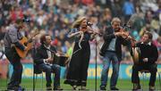 5 September 2010; Traditional music group Altan perform at half time. GAA Hurling All-Ireland Senior Championship Final, Kilkenny v Tipperary, Croke Park, Dublin. Picture credit: Dáire Brennan / SPORTSFILE
