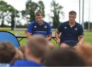 21 July 2016; Josh van der Flier, right, and Ross Molony of Leinster answer questions during the Bank of Ireland Leinster Rugby Summer Camp at Portlaoise RFC in Portlaoise, Co. Laois. Photo by Daire Brennan/Sportsfile
